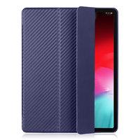 Синий чехол книжка для iPad Pro 12.9 2018 карбон