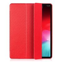 Красный карбоновый чехол книга для iPad Pro 12.9 2018