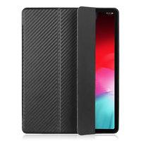 Черный карбоновый чехол книжка для iPad Pro 12.9 2018
