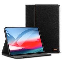 Черный кожаный чехол книга подставка для iPad Pro 12.9 2018