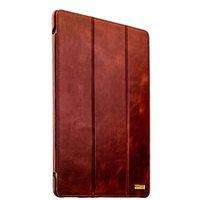 Коричневый кожаный чехол книга для iPad Pro 12.9 2018 - i-Carer Vintage Series Brown