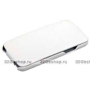 Чехол Fashion Case для Samsung GALAXY S5 кожаный с откидным верхом белый