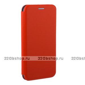 Красный кожаный чехол книжка Fashion Case для Xiaomi Redmi 6A (5.45) Red
