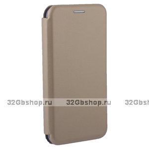 Золотой чехол книжка кожаный Fashion Case для Xiaomi Redmi 6A (5.45) Gold