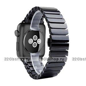 Черный керамический браслет для Apple Watch 42мм - 44мм