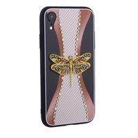 Cиликоновая накладка TOTU Dancing Dragonfly для iPhone XR Золотая стрекоза