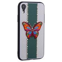 Силиконовая накладка TOTU Butterfly Love для iPhone XR зеленая бабочка