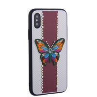 "Накладка силиконовая TOTU Butterfly Love для iPhone XS / X (5.8"") Бабочка Red"