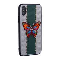 "Накладка силиконовая TOTU Butterfly Love для iPhone XS / X (5.8"") Бабочка Green"