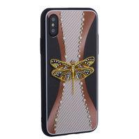 """Накладка силиконовая TOTU Dancing Dragonfly для iPhone XS / X (5.8"""") Стрекоза Gold"""