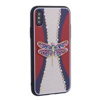 """Накладка силиконовая TOTU Dancing Dragonfly для iPhone XS / X (5.8"""") Стрекоза Purple"""