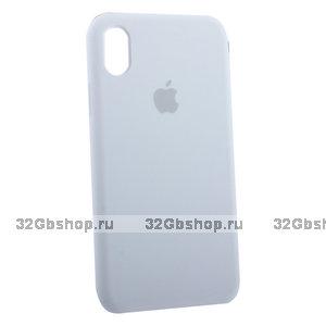 Белый силиконовый чехол для Apple iPhone XR Silicone Case White