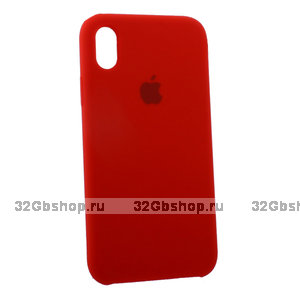 Красный силиконовый чехол для Apple iPhone XR Silicone Case Red