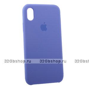 Сиреневый силиконовый чехол для Apple iPhone XR Silicone Case Purple