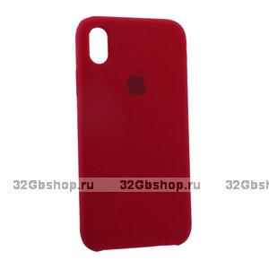 Малиновый силиконовый чехол для Apple iPhone XR Silicone Case