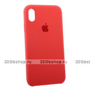 Коралловый силиконовый чехол для Apple iPhone XR Silicone Case Red