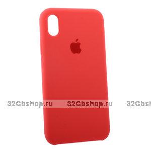 Коралловый силиконовый чехол для Apple iPhone XR Silicone Case Red