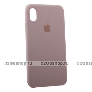 Силиконовый чехол для Apple iPhone XR Silicone Case Rose Розовый песок