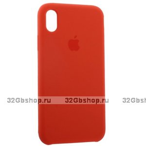 Оранжевый силиконовый чехол для Apple iPhone XR Silicone Case Orange