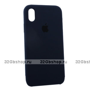 Темно-синий силиконовый чехол для Apple iPhone XR Silicone Case Dark Blue