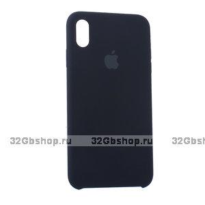 Черный силиконовый чехол для Apple iPhone XR Silicone Case Black
