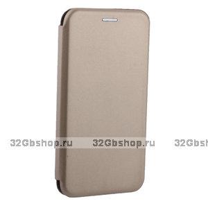 Золотой чехол книжка для iPhone XR - Fashion Case Slim-Fit Gold