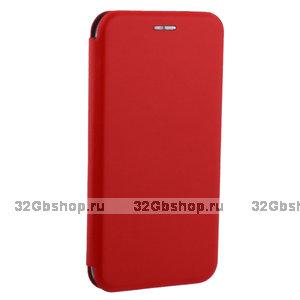 Красный чехол книжка для iPhone XR - Fashion Case Slim-Fit Red