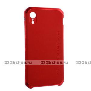 Красный защитный пластиковый чехол для iPhone XR с алюминиевыми вставками Element Case Solace AL&Pl Red