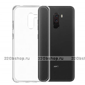 Прозрачный силиконовый чехол для для Xiaomi Pocophone F1