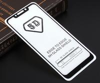 Защитное стекло 5D для Xiaomi Pocophone F1 с черной рамкой
