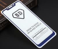 Защитное стекло 5D для Xiaomi Pocophone F1 с синей рамкой