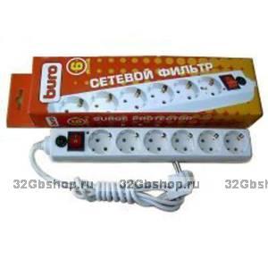 Сетевые фильтр Buro White 6 розеток 1,8 метров