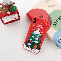 Силиконовый чехол для iPhone X / Xs 10 новогодний рисунок