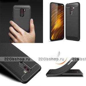 Защитный силиконовый чехол для для Xiaomi Pocophone F1 черный