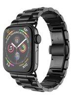 Черный стальной ремешок HOCO Black для Apple Watch 44мм / 42мм