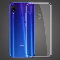 Прозрачный силиконовый чехол для Redmi Note 7 с отверстием для вспышки