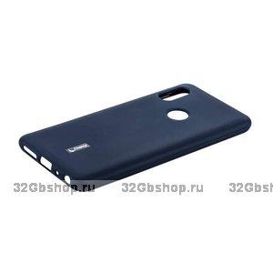 Синий силиконовый чехол для Xiaomi Redmi Note 7