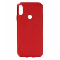 Красный прозрачный силиконовый чехол для Redmi Note 7
