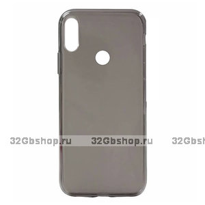 Серый прозрачный силиконовый чехол для Redmi Note 7