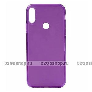 Фиолетовый прозрачный силиконовый чехол для Redmi Note 7