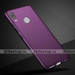 Фиолетовый тонкий пластиковый чехол для Redmi Note 7