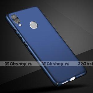 Синий тонкий пластиковый чехол для Redmi Note 7