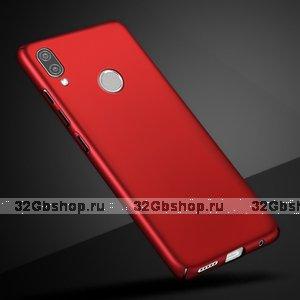 Красный тонкий пластиковый чехол для Redmi Note 7