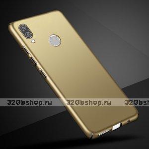 Золотой тонкий пластиковый чехол для Redmi Note 7