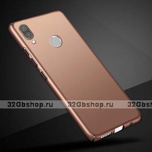 Тонкий пластиковый чехол для Redmi Note 7 розовое золото