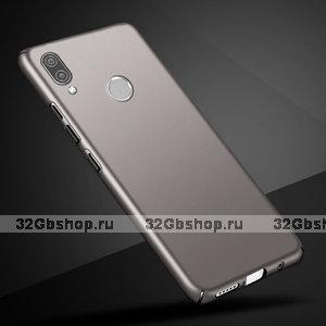 Серый тонкий пластиковый чехол для Xiaomi Redmi Note 7