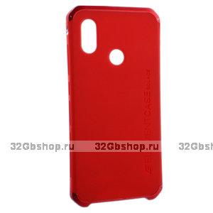 Красная защитная накладка с алюминиевой вставкой для Xiaomi Redmi Note 7 - Element Case Solace AL&Pl Red