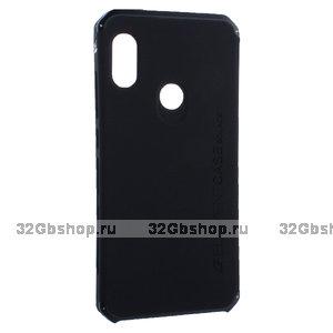 Черная противоударная накладка с алюминиевой вставкой для Xiaomi Redmi Note 7 - Element Case Solace AL&Pl Black