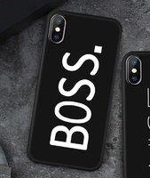 Черный матовый силиконовый чехол для iPhone XS Max 6.5 BOSS