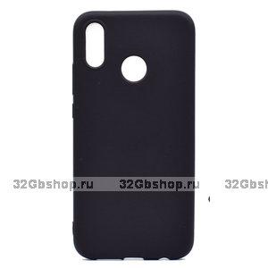 Черный матовый силиконовый чехол для Xiaomi Redmi Note 7